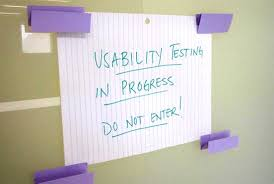 UX testing sign