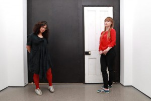 May and Amy with their Door into the Dark at Tribeca Storyscapes 2015
