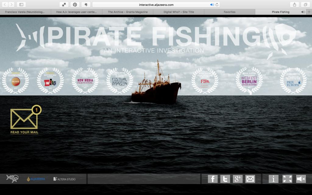 Screen-grab of Pirate Fishing interactive